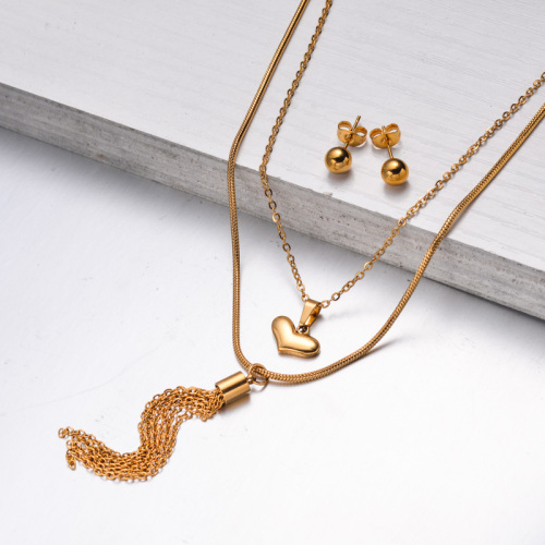 Stainless Steel Jewelry,Jewelry Sets—SSCSG142-33612