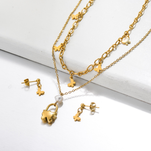 Stainless Steel Jewelry,Jewelry Sets—SSCSG142-33619