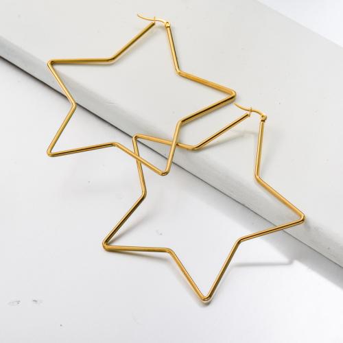 Bijoux en acier inoxydable, boucles d'oreilles—SSEGG143-33429