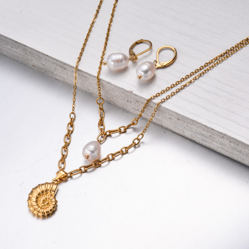 Bijoux en acier inoxydable, ensembles de bijoux—SSCSG142-33596