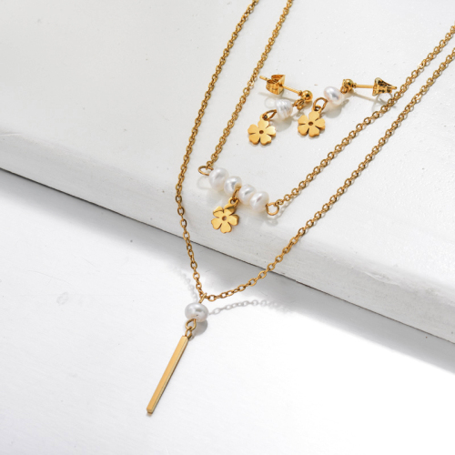 Bijoux en acier inoxydable, ensembles de bijoux—SSCSG142-33484