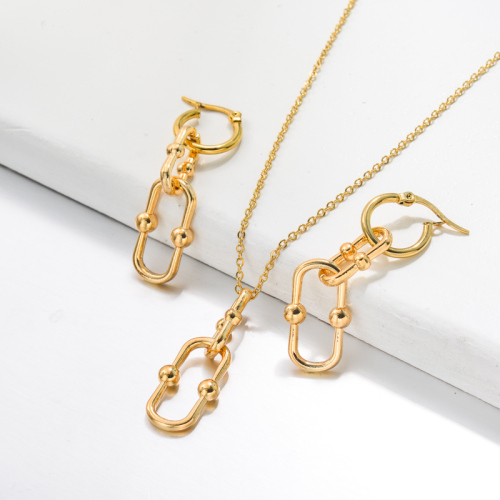Bijoux en acier inoxydable, ensembles de bijoux—SSCSG142-33507