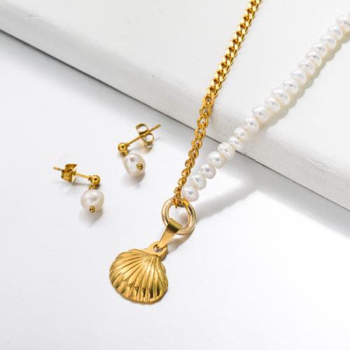 Bijoux en acier inoxydable, ensembles de bijoux—SSCSG142-33505
