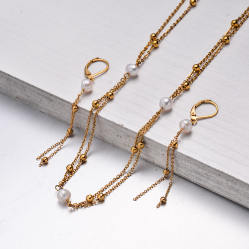 Bijoux en acier inoxydable, ensembles de bijoux—SSCSG142-33599