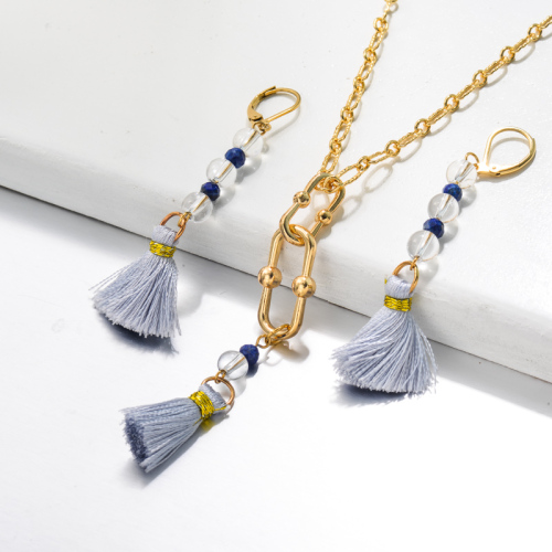 Bijoux en acier inoxydable, ensembles de bijoux—SSCSG142-33490