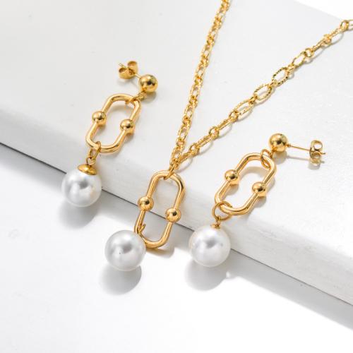 Bijoux en acier inoxydable, ensembles de bijoux—SSCSG142-33489