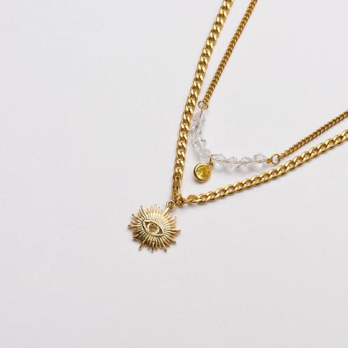 Colliers de Acero Inoxidable para Mujer al por Mayor-SSNEG142-33676