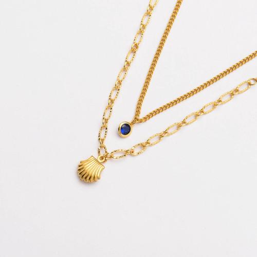 Colliers de Acero Inoxidable para Mujer al por Mayor-SSNEG142-33795