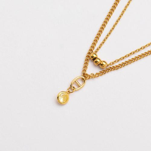 Colliers de Acero Inoxidable para Mujer al por Mayor-SSNEG142-33810