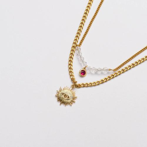 Colliers de Acero Inoxidable para Mujer al por Mayor-SSNEG142-33675
