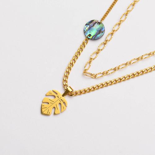Colliers de Acero Inoxidable para Mujer al por Mayor-SSNEG142-33800