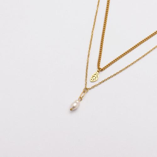Colliers de Acero Inoxidable para Mujer al por Mayor-SSNEG142-33672