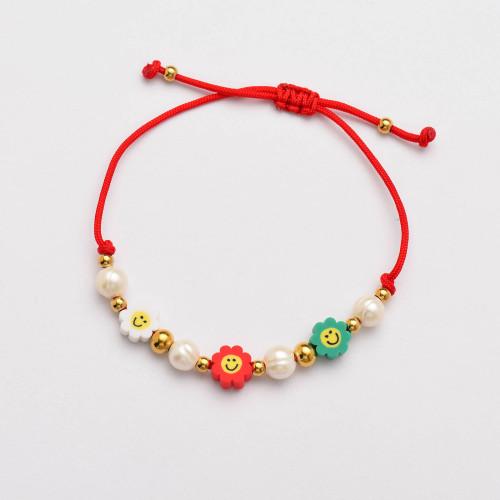 Pulseras de Perlas Hechas a Mano de Hilo Rojo -SSBTG142-33820