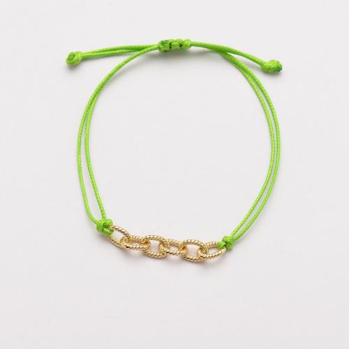Pulseras de Cadena de Eslabones Verdes para Mujer -SSBTG142-33780