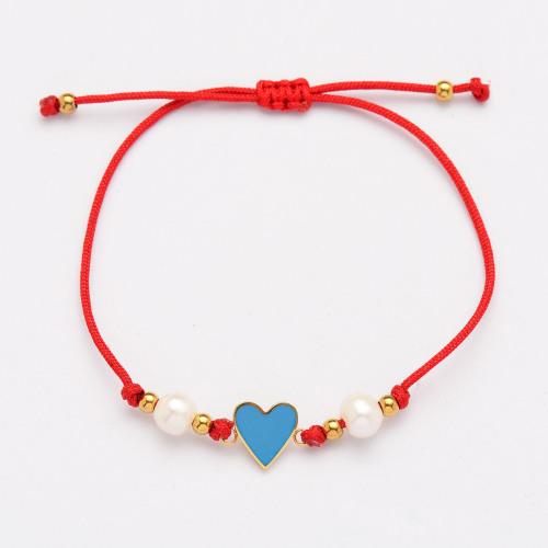 Pulseras Hechas A Mano De Perlas Corazón De Hilo Rojo -SSBTG142-33817