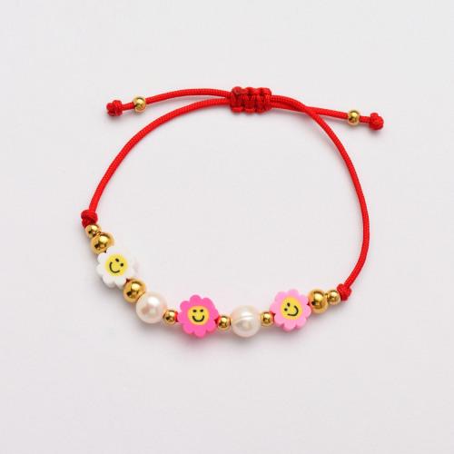 Pulseras de Perlas Hechas a Mano de Hilo Rojo -SSBTG142-33821