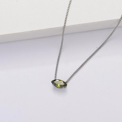 Collar Tiny Circón Cúbico Transparente -SSNEG143-33855