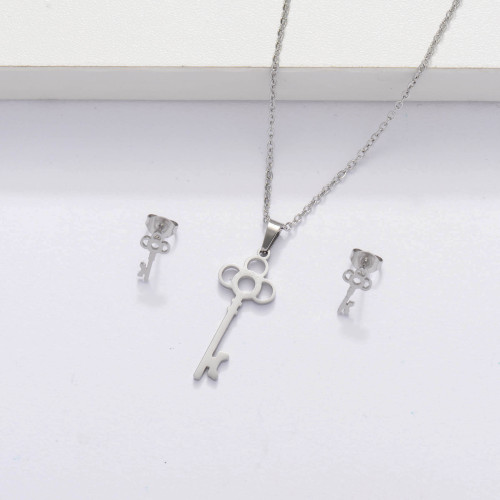 Stainless Steel Key Jewelry Sets for Women -SSCSG143-33876