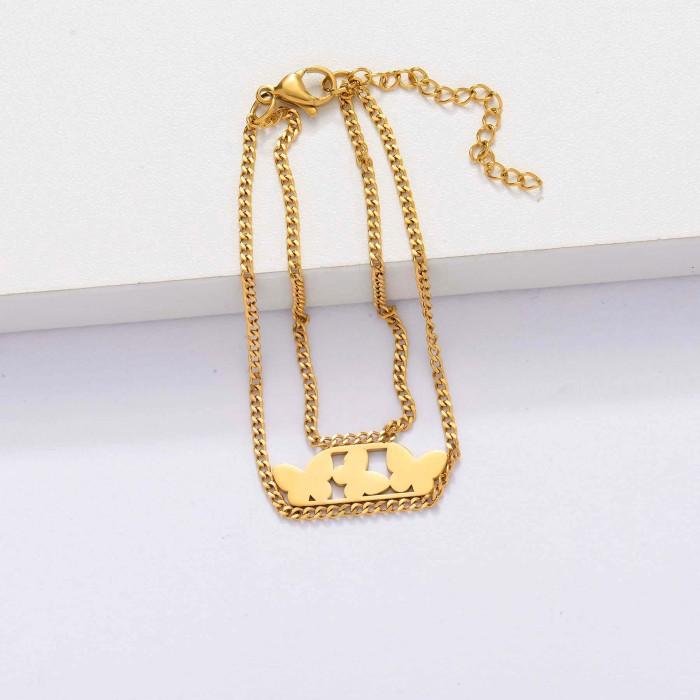 18k Gold Plated Butterfly Bracelets for Women -SSBTG143-33907