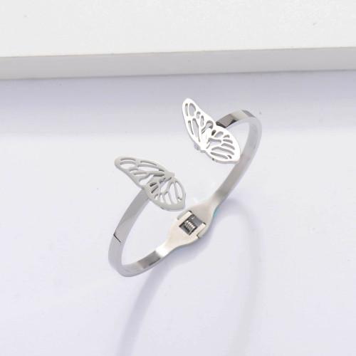 Brazaletes de Moda de Acero Inoxidable con Mariposa -SSBTG143-33901