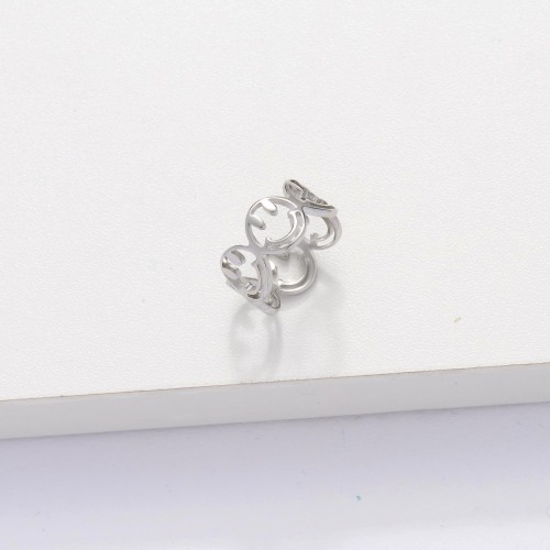 Stainless Steel Smiley Ring for Women -SSRGG143-33900