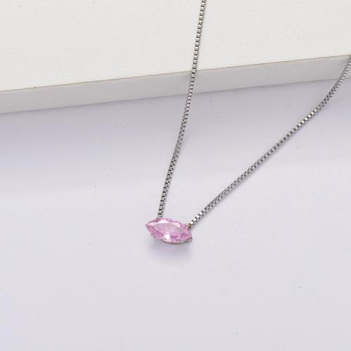 Collar Tiny Circón Cúbico Transparente -SSNEG143-33857