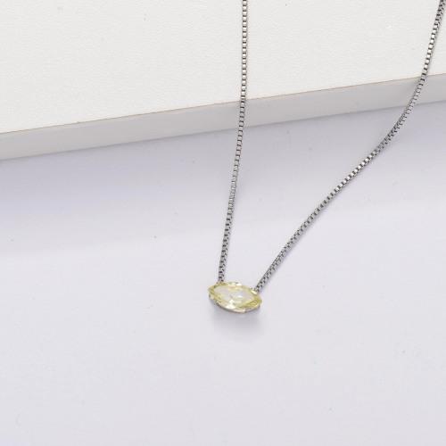 Collar Tiny Circón Cúbico Transparente -SSNEG143-33856