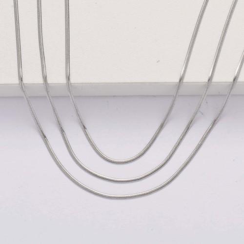 Collar Tres Capas de Acero Inoxidable -SSNEG143-33874