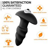 Vibrator Male Anal Plug Medical Soft Silicone Anal Cork With Vibration 7 Speed Butt Plug Adult Sex Toys For Women Couples