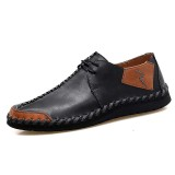 Man Casual Shoes Men Genuine Leather Handmade business Moccasins Loafers Comfy Male Driving Boat Sneaker Big Size 38-47