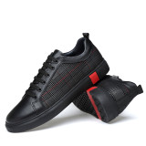 Men's Brand High quality leather Spring Summer Breathable Male Casual Leather Shoes Adult Luxury Flat Footwear Comfortable