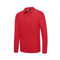 new polo shirt long-sleeved advertising shirt high-end shirt solid color men's cultural clothing