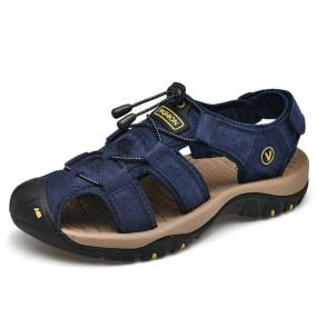 Men's traditional sandals, summer soft sandals, men's comfortable shoes, leather sandals, large Roman soft sandals