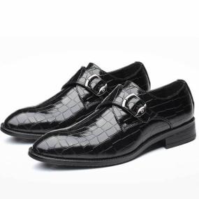 Classic Men Dress Shoes High Quality Leather Formal Man Wedding Shoe Elegant Luxury Suit Shoes Pointed Toe Toe Flats Big Size