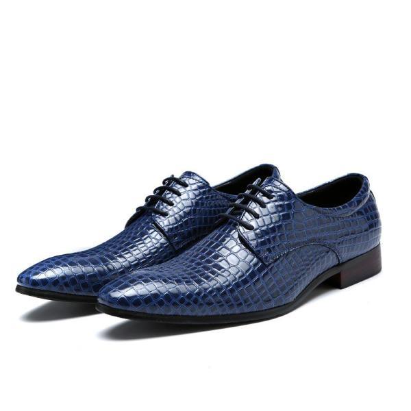Men's pointy shoes wear Ugandan leather shoes formal wedding shoes for men