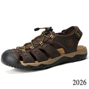 Men's summer sandals, leather informal work shoes