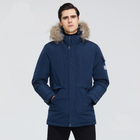 New winter high quality men's hooded jacket