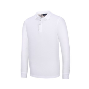 wholesale 2020 new polo shirt long-sleeved advertising shirt high-end shirt solid color men's cultural clothing