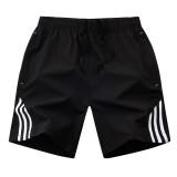 Summer Mens Shorts Streetwear Men's Sportswear Casual Boardshort Man Short Masculino Side Stripe bodybuilding Shorts Men 8XL