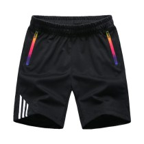 Striped Shorts Men Summer Men's Sportswear Casual Boardshorts Man Zipper Pocket Breathable Mens Short Trousers New Fashion