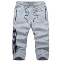 Summer Casual Shorts Men Striped Men's Sportswear Short Sweatpants Jogger Breathable Trousers Boardshorts Man Drop Shipping