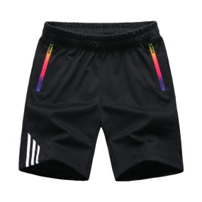 wholesale Striped Shorts Men Summer Men's Sportswear Casual Boardshorts Man Zipper Pocket Breathable Mens Short Trousers New Fashion