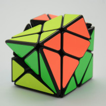 YJ 3x3x3 Axis Magic Cube Black Body Change Irregularly Jinggang Speed Cube with Frosted Sticker