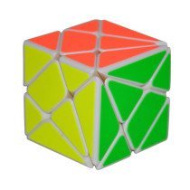 YJ 3x3x3 Axis Magic Cube White Body Change Irregularly Jinggang Speed Cube with Frosted Sticker