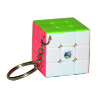 Yuxin YuQiLin Mini 3x3 Key Ring Magic Cibe - Pink