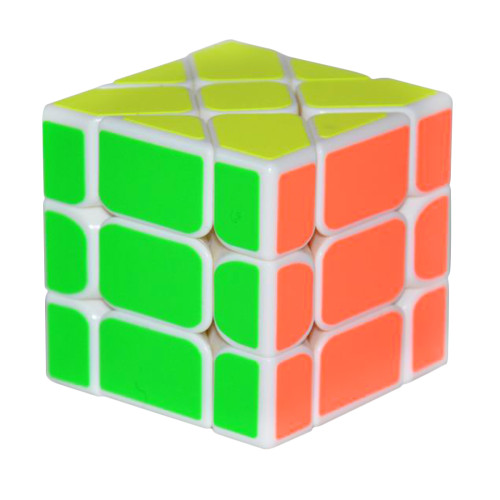 YongJun YJ 3X3X3 Fisher Cube Magic Cube Speed Puzzle - White