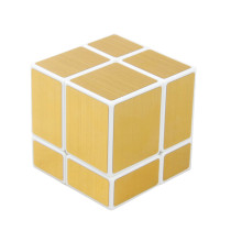 Shengshou Mirror Cube 2x2 Magic Cube - White + Golden