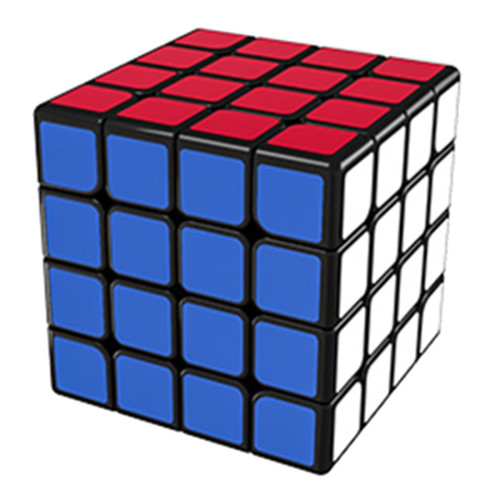 Upgrade MoYu AoSu WR 4x4 Magic Cube - Black/Stickerless
