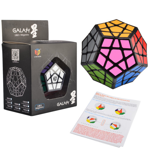 Qiyi Galaxy Concave Five Corners Magic Cube  - Black