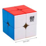 Upgrade MoYu WeiPo WR 2x2 Magnetic Magic Cube Black/Stickerless